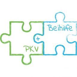 Puzzleteile auf denen PKV und Beihilfe steht