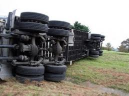 Transportversicherung LKW umgekippt